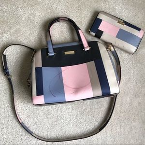 Kate Spade Colorblock Purse and Wallet Flawed